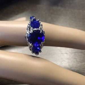Royal Blue Stone Ring Size 6